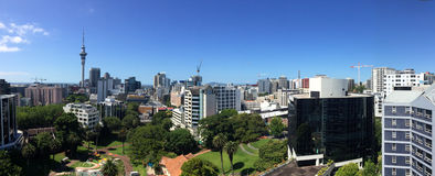 Panoramic view of Auckland city skyline - New Zealand royalty free stock photography