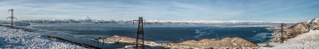 Panoramic view of Avacha Bay. Stock Photos