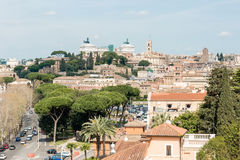 Panoramic view from Aventine Hill in Rome, Italy Royalty Free Stock Photo