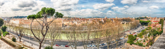Panoramic view from Aventine Hill in Rome, Italy Royalty Free Stock Photos