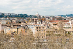 Panoramic view from Aventine Hill in Rome, Italy Stock Photo