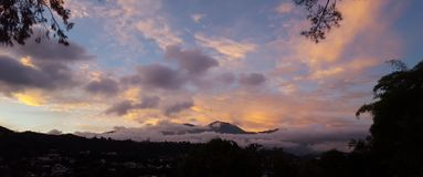 Panoramic view Avila mountain Caracas Venezuela Stock Photography