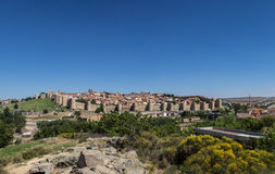 Panoramic view of Avila, Spain Royalty Free Stock Image
