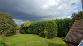 Panoramic view of the backyard Royalty Free Stock Photo