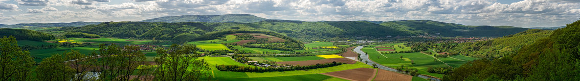 Panoramic View - Bad Sooden-Allendorf Stock Photos