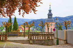 Panoramic view on Baden-Baden church and the city Royalty Free Stock Images