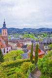 Panoramic view of Baden-Baden church Stiftskirche and the city Royalty Free Stock Photography