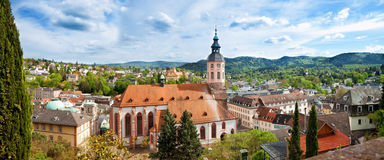 Panoramic view of Baden-Baden. Royalty Free Stock Photography