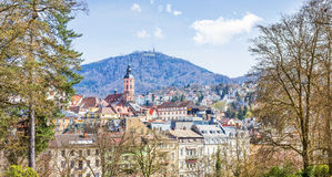 Panoramic view of Baden-Baden. Royalty Free Stock Photo