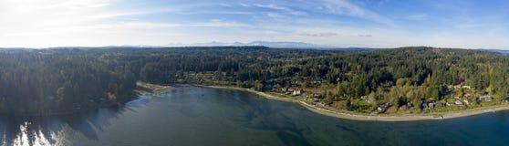 Panoramic View of Bainbridge Island Washington USA stock photography