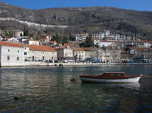 Panoramic view at Bakar city and coast with a blue sky Stock Photography