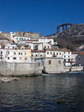 Panoramic view at Bakar city old town and coast in Croatia stock photo