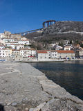 Panoramic view at Bakar city with old town in Croatia royalty free stock photo