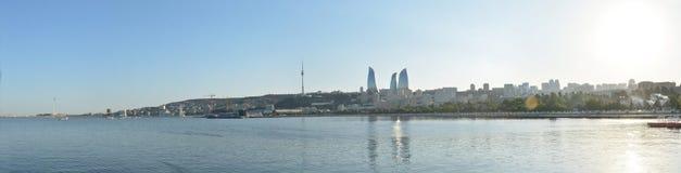 Panoramic view of the Baku bay Stock Image