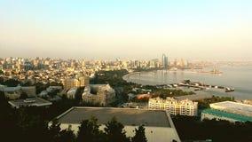 Panoramic view of Baku city. From the mountain park Azerbaijan Royalty Free Stock Photo