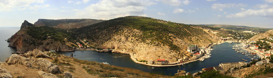 Panoramic view of Balaklava Bay, Crimea Stock Photos