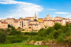 Panoramic view of Bale village, Croatia. Royalty Free Stock Photos