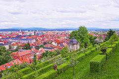 Panoramic view on Bamberg city center Stock Images