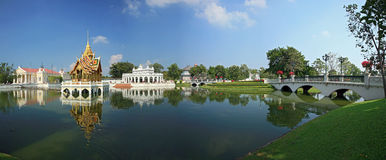 Panoramic view of Bang Pa-In Palace. In Thailand Stock Photo