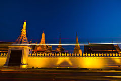 Panoramic view of Bangkok. At night time in Thailand Royalty Free Stock Photography