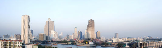 Panoramic view of Bangkok Stock Images