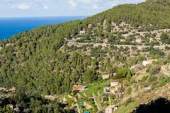 Panoramic view of Banyalbufar, Majorca Royalty Free Stock Image