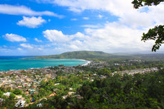 Panoramic view of Baracoa, Cuba Royalty Free Stock Photos