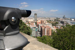 Panoramic view of Barcelona Stock Images