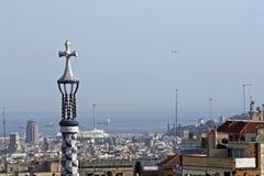 Panoramic view of Barcelona Stock Image