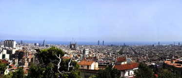 Panoramic view - Barcelona Royalty Free Stock Photo