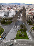 Panoramic view of Barcelona city, Spain. Royalty Free Stock Image