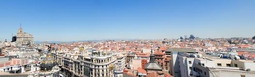 Panoramic view on Barcelona Stock Photography