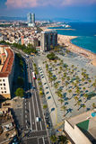Panoramic view on Barcelona downtown Stock Images