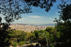 Panoramic view of Barcelona Royalty Free Stock Image