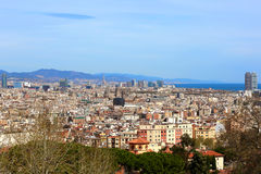 Panoramic view of Barcelona Stock Image