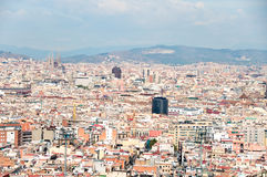 Panoramic view of Barcelona roofs Stock Image