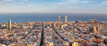 Panoramic view of Barcelona, Spain Royalty Free Stock Photo