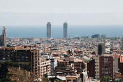 Panoramic view of Barcelona, Spain Royalty Free Stock Photography