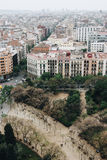 Panoramic view of Barcelona, Spain Stock Images