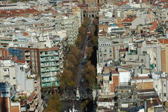Panoramic view of Barcelona, Spain Royalty Free Stock Image