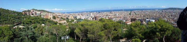 Panoramic View Of Barcelona Stock Photo