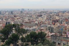 Panoramic view of Barcelona,Spain Stock Photography