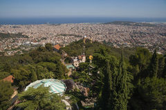 Panoramic view of Barcelona from Tibidabo, Stock Photo