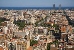 Panoramic view of Barcelona from the top of Sagrada Familia, Spa Stock Photos