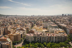 Panoramic view of Barcelona from the top of Sagrada Familia Stock Photo