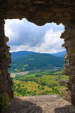 Panoramic view of Bardi. Emilia-Romagna. Italy. Stock Photo