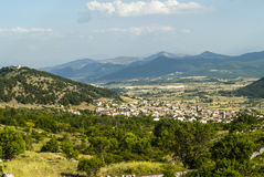 Panoramic view of Barisciano Stock Image