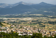 Panoramic view of Barisciano Royalty Free Stock Photography