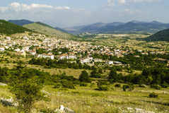 Panoramic view of Barisciano Stock Photos