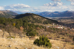 Panoramic view of Barisciano (L'Aquila, Abruzzi, Italy) Stock Photos
